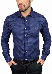 Camisa Ralph Lauren Xadrez Azul Marinho
