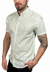 Camisa Ralph Lauren Linho Verde Água