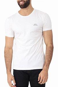 Camiseta Armani Exchange Escrita Off White