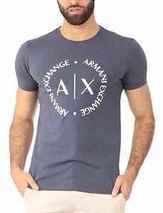 Camiseta Armani Exchange Logo Chumbo