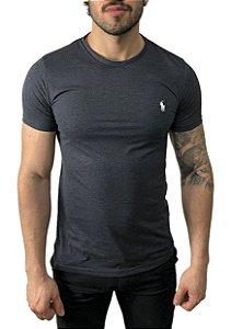 Camiseta Ralph Lauren Básica Chumbo Mescla