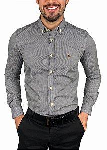Camisa Ralph Lauren Micro-Xadrez Preta