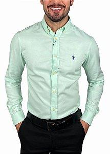 Camisa Ralph Lauren Oxford Verde Claro