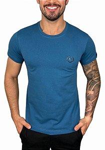 Camiseta VersatiOld Small Logo Azul Petróleo