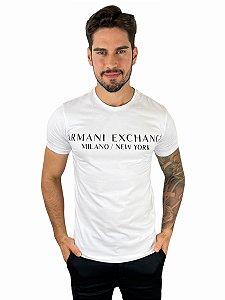 Camiseta Armani Exchange Milano New York Branca
