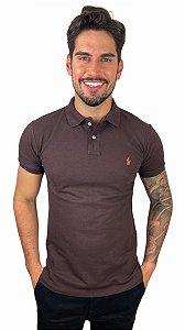 Camisa Polo Ralph Lauren Marrom