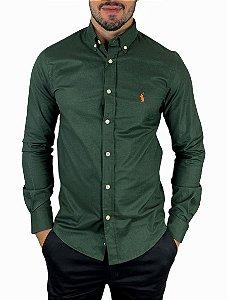 Camisa Ralph Lauren Oxford Verde Militar