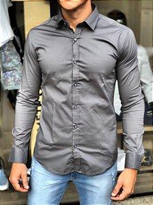 Camisa Alfaiataria Italiana Cinza