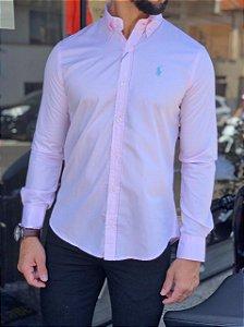 Camisa Ralph Lauren Rosa Claro