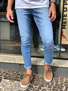 Calça Jeans Cropped, Booq