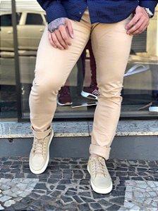 Calça sarja creme Ralph Lauren