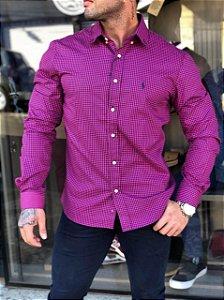 Camisa xadrez rosa Ralph Lauren