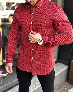 Camisa xadrez vermelha Ralph Lauren