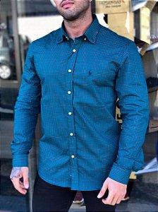 Camisa xadrez verde Ralph Lauren