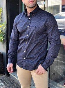 Camisa xadrez chumbo Ralph Lauren