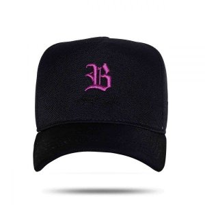 Boné Snapback Authentic Roxo Black BLCK