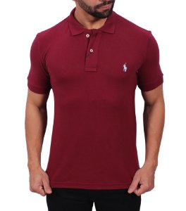 Camisa Polo Ralph Lauren Bordô