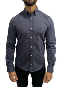 Camisa Ralph Lauren Chumbo com Bordado Preto