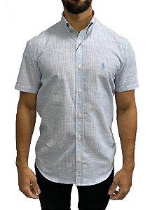 Camisa Ralph Lauren Linho Listrada Azul