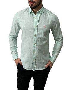 Camisa Ralph Lauren Linho Verde