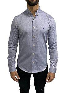 Camisa Social Ralph Lauren Lisa Monocromático