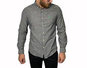 Camisa Ralph Lauren Linho Cinza