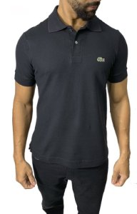 Camisa Polo Lacoste Preta + Frete Grátis