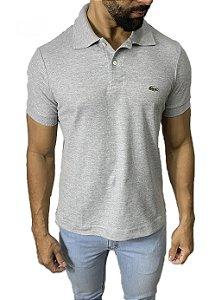 Camisa Polo Lacoste Cinza