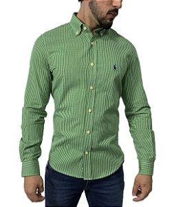 Camisa Social Ralph Lauren Xadrez Verde Escuro