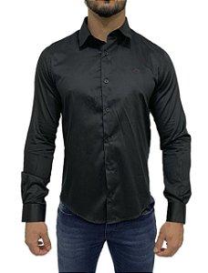 Camisa Social Armani Exchange Preta