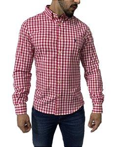 Camisa Social Ralph Lauren Xadrez Rosa e Branca