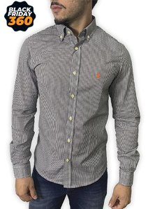 Camisa Ralph Lauren Micro-Xadrez Preto