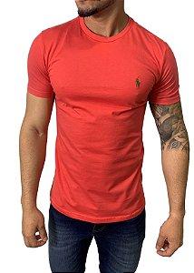 Camiseta Ralph Lauren Básica Salmão
