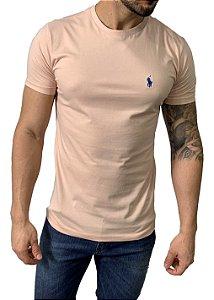 Camiseta Ralph Lauren Básica Rosa Nude