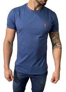 Camiseta Ralph Lauren Básica Azul Petróleo