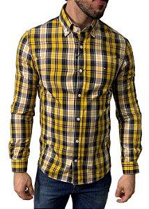 Camisa Tommy Hilfiger Xadrez Amarela
