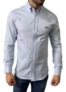 Camisa Lacoste Oxford Azul