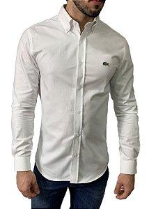 Camisa Lacoste Oxford Branca