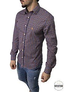 Camisa Ralph Lauren Xadrez Laranja