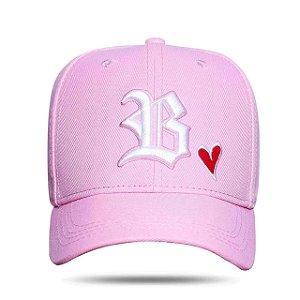 Boné Blck Strapback Heart Pink
