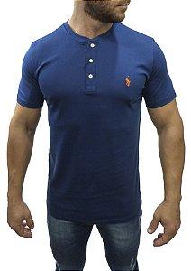 Camiseta Henley Ralph Lauren Azul