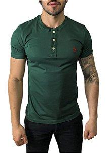 Camiseta Henley Ralph Lauren Verde Militar
