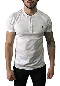 Camiseta Henley Ralph Lauren Branca