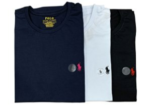 Kit com 3 Camisetas Ralph Lauren