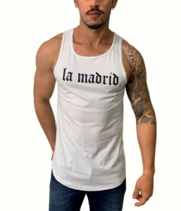 Camiseta Regata Long La Madrid White