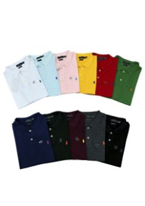 Kit com 3 Camisas Polo Ralph Lauren