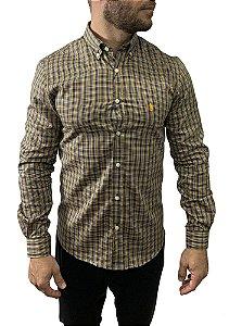 Camisa Ralph Lauren Xadrez Amarela