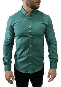Camisa Ralph Lauren Oxford Verde