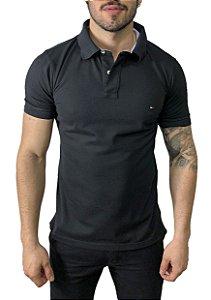 Camisa Polo Tommy Hilfiger Preta