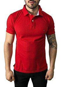 Camisa Polo Tommy Hilfiger Vermelha